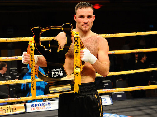Glenn Foot wins the Prizefighter competition. Picture credit Sportinglife.com